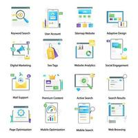 Seo and Digital Marketing vector