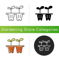 Seedling trays icon vector
