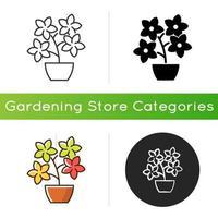 Flowering tree shrubs icon vector