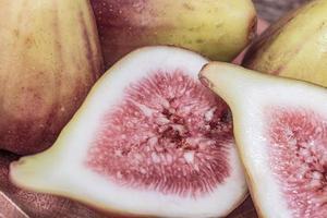 Ripe sliced fig, close-up photo