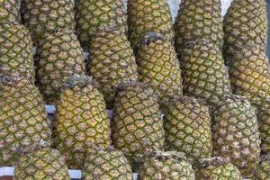 Textured pineapple background photo