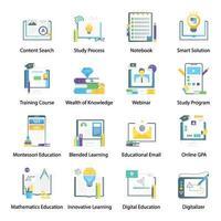 educación y aprendizaje en línea vector