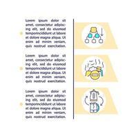 Iconos de línea de concepto de desarrollo de economía circular con texto vector