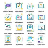 digital y marketing vector