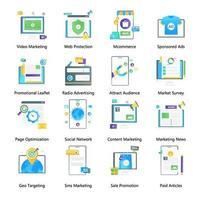marketing digital y medios vector