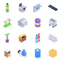 Ecology and Electric Isometric vector