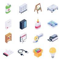 material de oficina y maquinaria de oficina vector