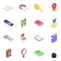 Academic Equipment Elements vector