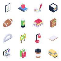accesorios de educación y aprendizaje vector