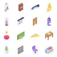 School Equipment and Elements vector