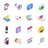 Social Media Elements vector