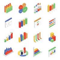 análisis de datos e infografía vector