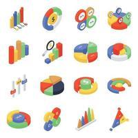 Data Diagrams Elements vector