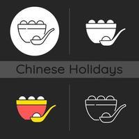 Tangyuan dark theme icon vector