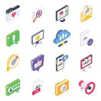 Trendy Social Media and Communication vector