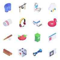 Travel Essentials Elements vector