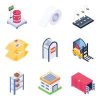 servicios logísticos y postales vector