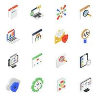Seo Services and Networking vector