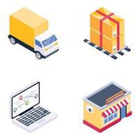 carga y servicio postal vector