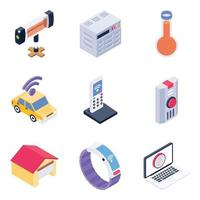 Smart Device and Elements vector