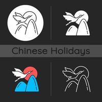 Crane dark theme icon vector