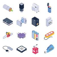 Electrical Materials Isometric vector