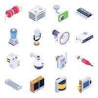 electrónica y dispositivos vector