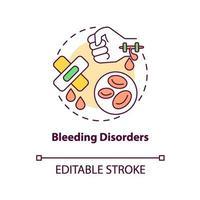 Bleeding disorders concept icon vector