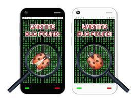 smartphone found a bug vector