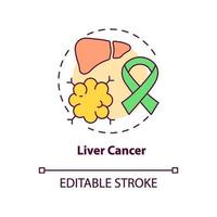 Liver cancer concept icon vector