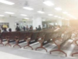 Blurred background chairs in a hospital photo