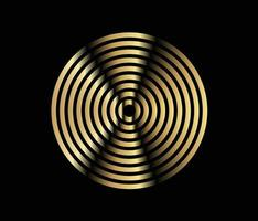 Concentric circle element. Gold luxurious color ring. Abstract  vector illustration for sound wave, golden graphic, Modern decoration for websites, posters, banners, template EPS10 vector