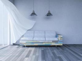 Sala de estar interior 3d foto