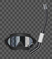 glasses scuba diving mask vector