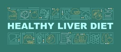 Healthy liver diet word concepts banner vector