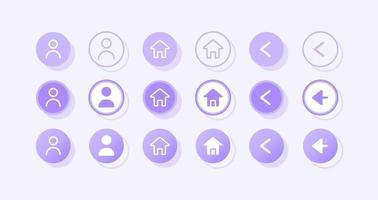 User profile UI elements kit vector