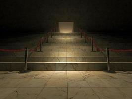 3d rendering, marble stairs photo