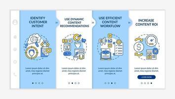 Smart content creation tips onboarding vector template