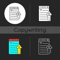 Generating income dark theme icon vector