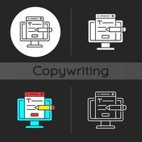 Website content dark theme icon vector