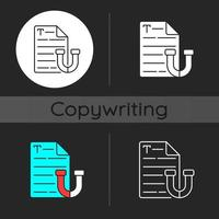Appealing text dark theme icon vector