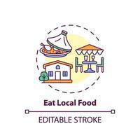 comer icono de concepto de comida local vector