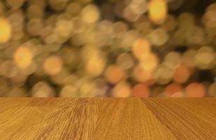 piso de madera abstracto y fondo bokeh foto