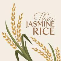 ilustración vectorial de arroz vector