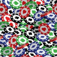 Poker Chips seamless pattern, Jackpot or winner concept. Poker Chips pattern for fabric, baby clothes, background, textile,wrapping paper and other decoration.Vector illustration vector