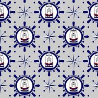 Seamless marine vector pattern with walrus. Prints for children's clothing, textiles, paper and web.