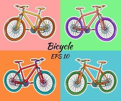 Bicycle. International Bicycle Day. Bicycle drawn in cartoon style. vector
