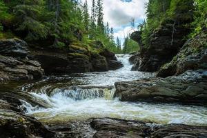 Creek in northern Sweden photo