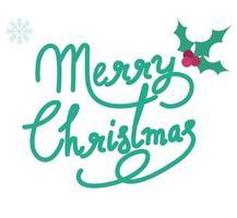 merry christmas text vector design