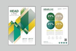 Vector brochure template design Set